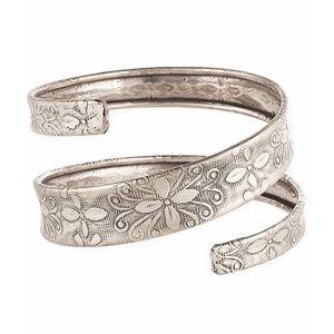 Floral Embossed Spiral Adjustable Cuff